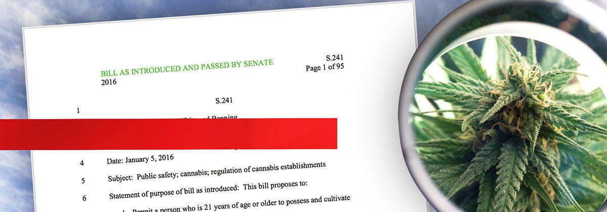 s241 Vermont House Bill on Cannabis Regulation
