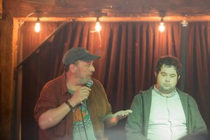 Vermont Hemp Company founder Joel Bedard speaks at the first Heady Vermont cannabis event at the Skinny Pancake in Burlington.