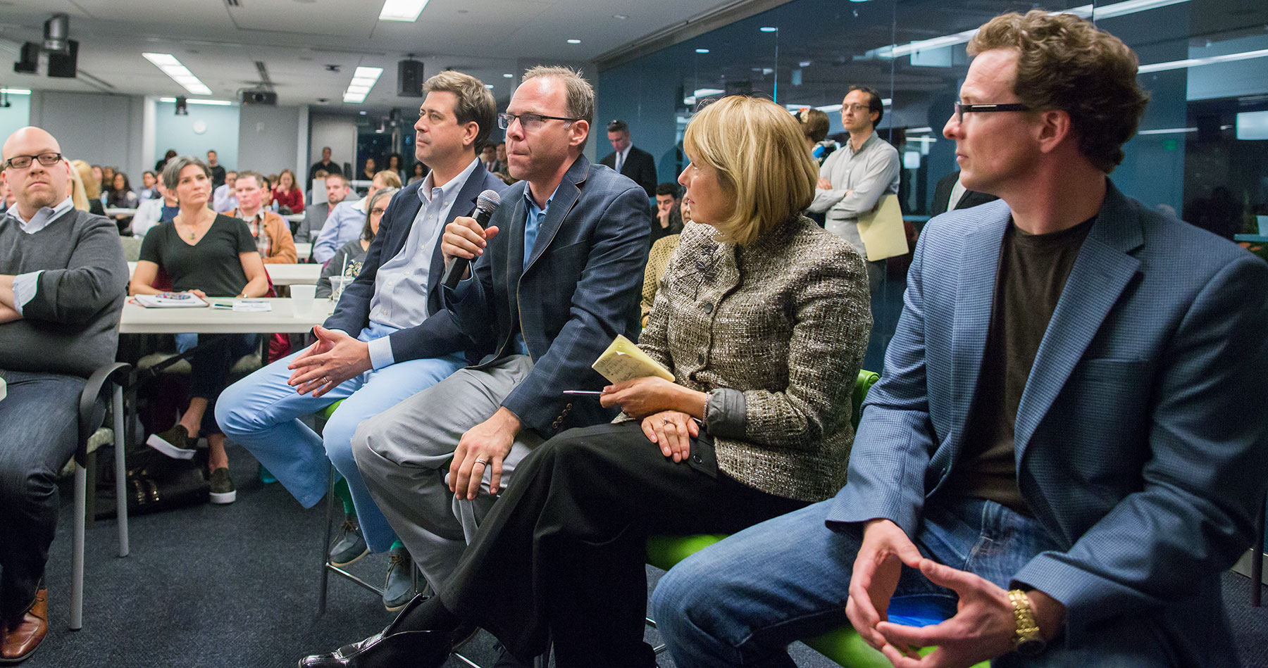 Judge Kris Krane, principal and managing partner at 4Front Advisors and New England Cannabis Coalition board member, speaks during #StartupHigh at NERD New England Research and Development Center in Cambridge, Massachusetts on Friday, March 18 2016.