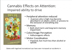 UVM Course Screenshot - Cannabis Effects on Attention