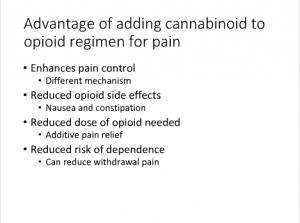 UVM Course Screenshot - cannabinoid regimen for pain