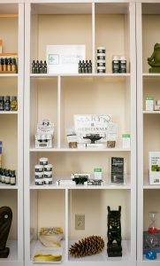Mary's Medicinals CBD products on display at the CVD Shop in the Waterfront Wing Building on the Bike Path in Burlington, Vermont on Wednesday, July 20, 2016. by Monica Donovan for Heady Vermont