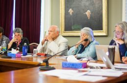 Members of the Joint Legislative Justice Oversight Committee listen to testimony during a meeting in Room 10 of the State House in Montpelier, Vermont on Monday, September 12, 2016. by Eli Harrington for Heady Vermont.