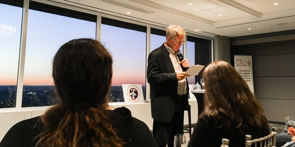 Rick Steves Speaks about Cannabis Legalization at a Women Grow Event in Boston Massachusetts. By C.E. Tanner for Heady Vermont