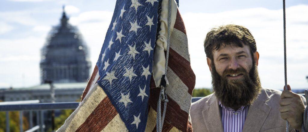 Veterans Day, Growing Warriors, Hemp Flag, photo by Ben Droz
