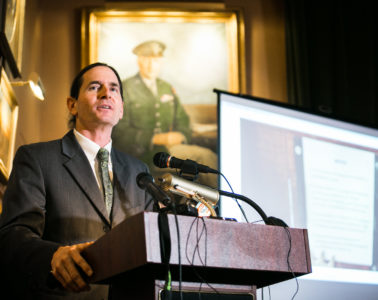 Lt. Gov. David Zuckerman speaks at a news conference on Tuesday, January 9 on cannabis reform. Photo by Monica Donovan for Heady Vermont